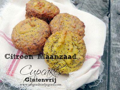 Gluten free Lemon Poppy Muffins - Eet Goed Voel je Goed.com