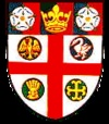 """""""Selby is a town and civil parish in North Yorkshire, England. Situated 12 miles (19.3km) south of the city of York, along the course of the River Ouse, Selby is the largest and, with a population of 13,012, most populous settlement of the wider Selby local government district."""" Pictured: Arms of Selby Town Council"""