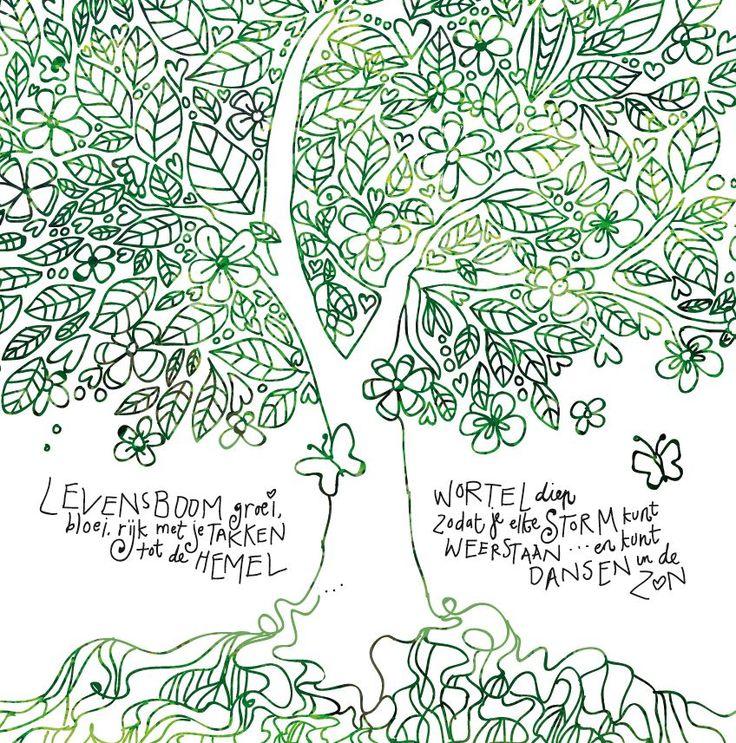Puur Vandaag | DIY – Kleurplaat Levensboom door Wilma Veen | Puur Vandaag