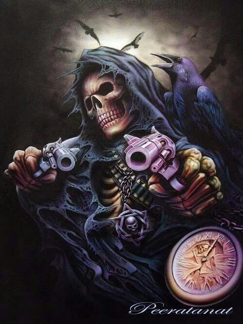 give me your life skulls grim reaper art skull art