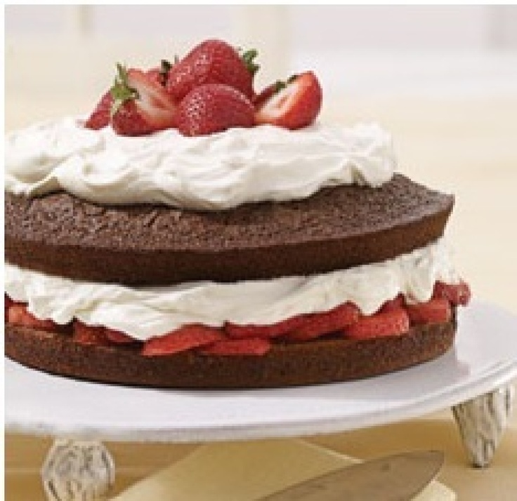 Chocolate Strawberry Shortcake | Recipe