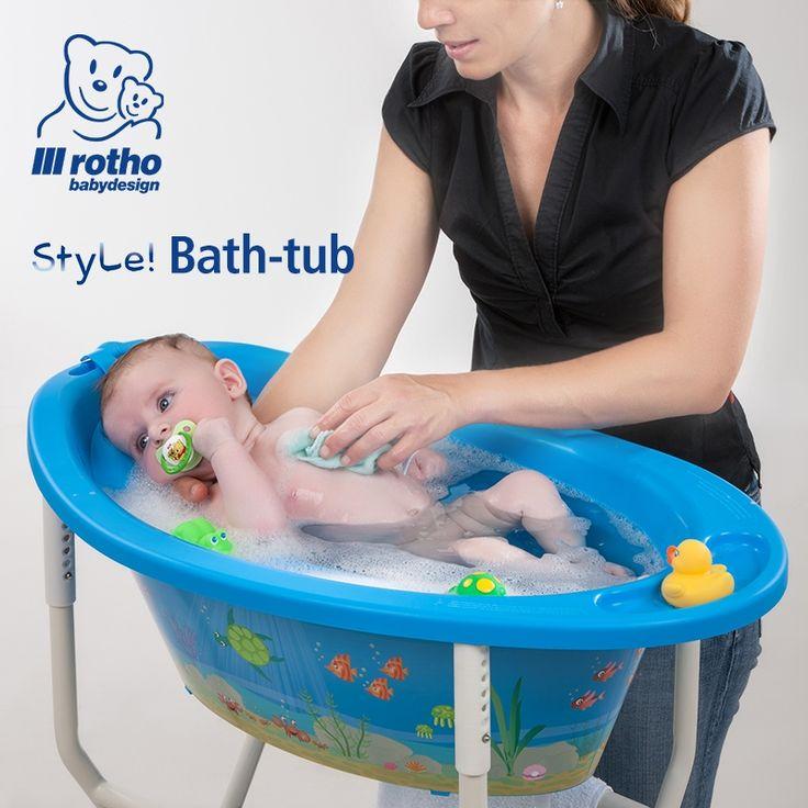 Rotho Babydesign Óceán fürdető szett állítható magasságú állvánnyal #rothobabydesign #babakád #fürdetőkád #babafürdetés