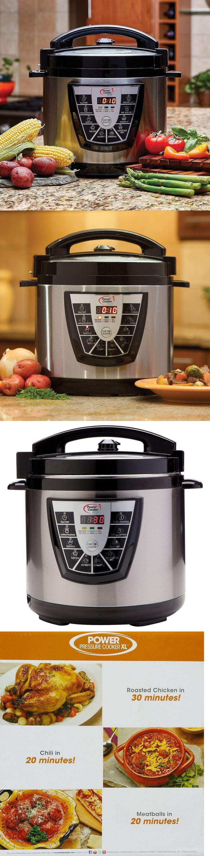 Fagor duo 8 quart pressure cooker - Small Kitchen Appliances Digital Power Pressure Cooker Canner Plus Xl Electric 8 Quart Stainless Steel
