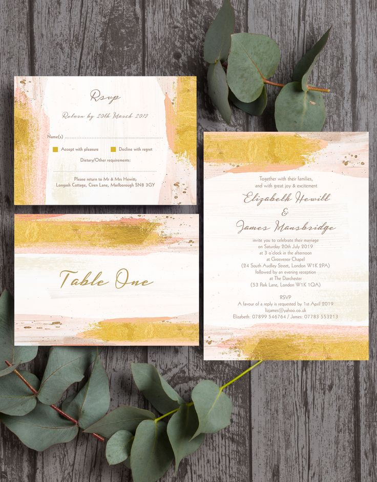 wedding shower invitations omaha%0A Beautiful blush pink and gold wedding stationery  with a modern watercolour    watercolor paint effect and delicate brush stokes