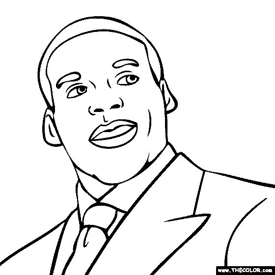 printable cam newton coloring pages - photo#8