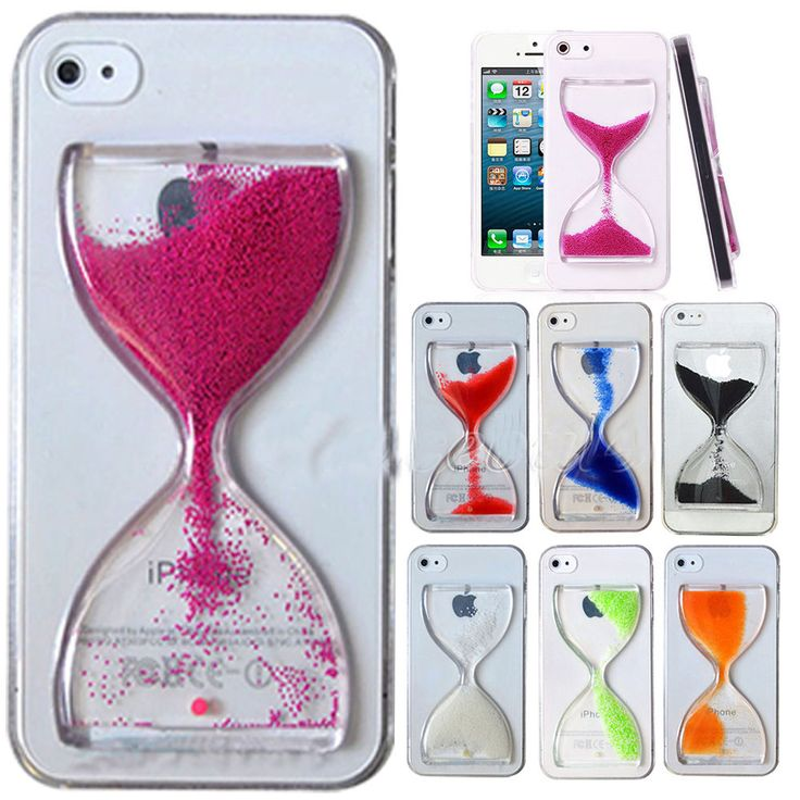 3D Cute Fun Crystal Clear Hourglass Hard Cover Case For iPhone Samsung Galaxy #UnbrandedGeneric