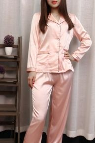 Sweet Silky Pink Long Sleeve Pyjama Set Drawstring Pants