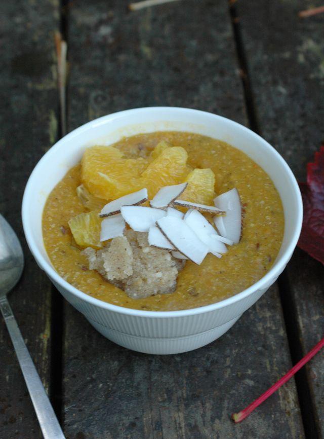 Pumpkin porridge with Macadamia Nut Butter