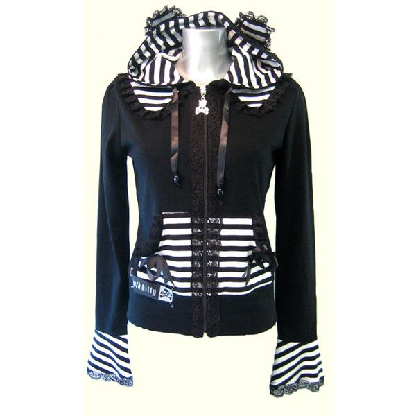 Death Kitty Panda Hoody - Alternative, Gothic, Emo Clothing found on Polyvore