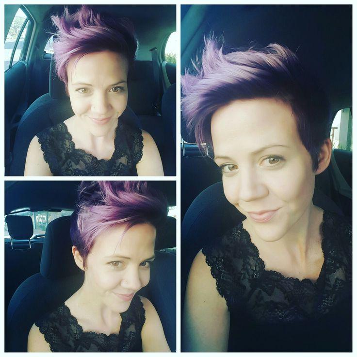 Purple pixie cut August 2016