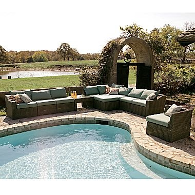 Cindy Crawford Colony Cove Wicker Patio Sectional - jcpenney
