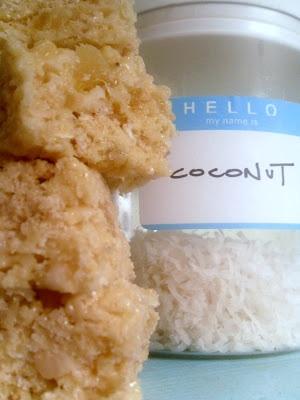 Colada Rice Krispies treats -- pineapple, coconut, and macadamia nuts ...