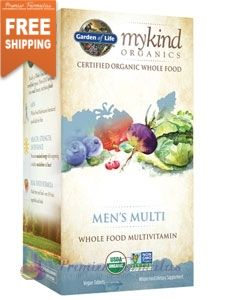 Men S Multi Organic 60 Tabs By Garden Of Life Premier Formulas Organic Multivitamin Whole Food Vitamins Multivitamin Supplements