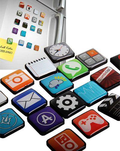 ¿Eres un fan de Apple? Entonces no deberías perderte estos imanes para la nevera con forma de aplicaciones... ¡para los más geeks!