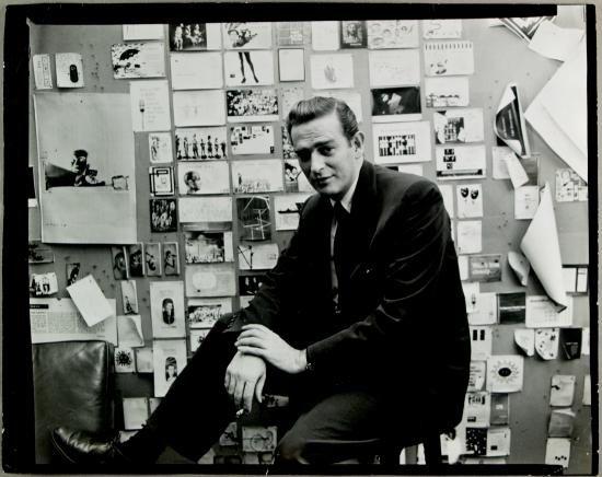 William Golden in his CBS office