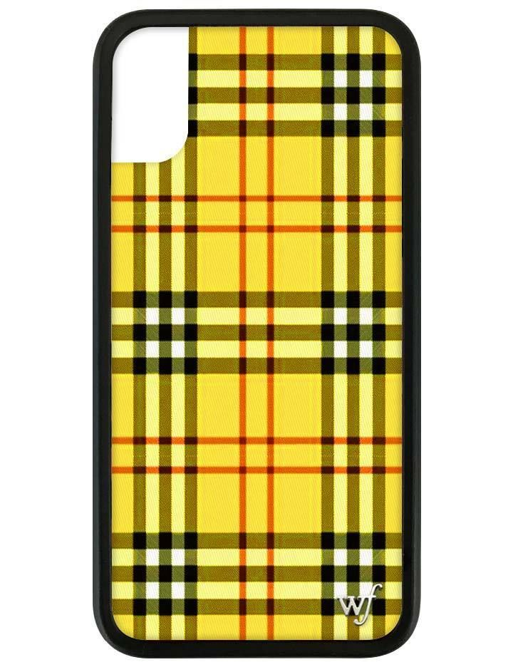 best loved 5d7d5 6a84d Yellow Plaid iPhone X/Xs Case in 2019 | Phone Stufffffff | Iphone ...