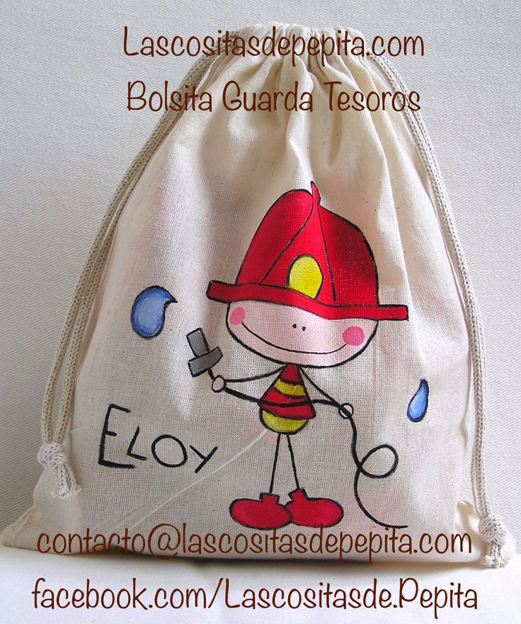Bolsa de Tela pintada a mano by Lascositasdepepita.com