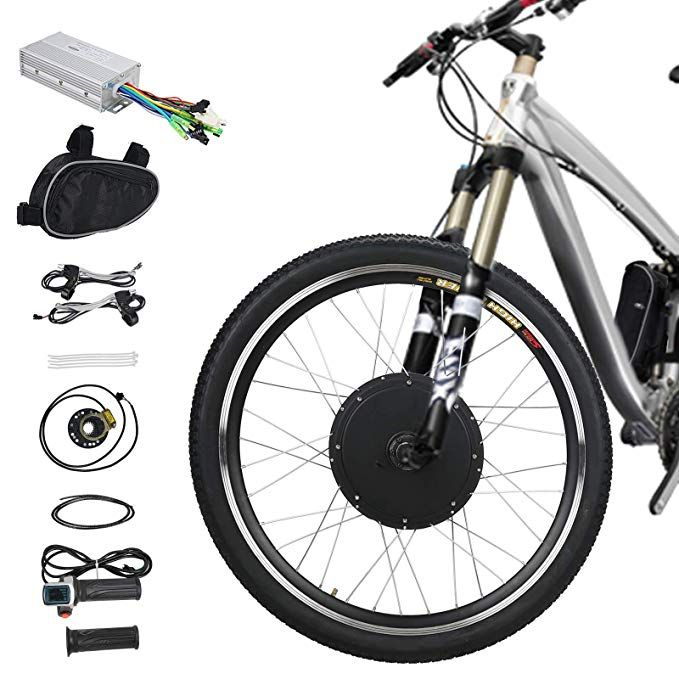 Voilamart Electric Bicycle Kit 26 Front Wheel 48v 1000w E Bike