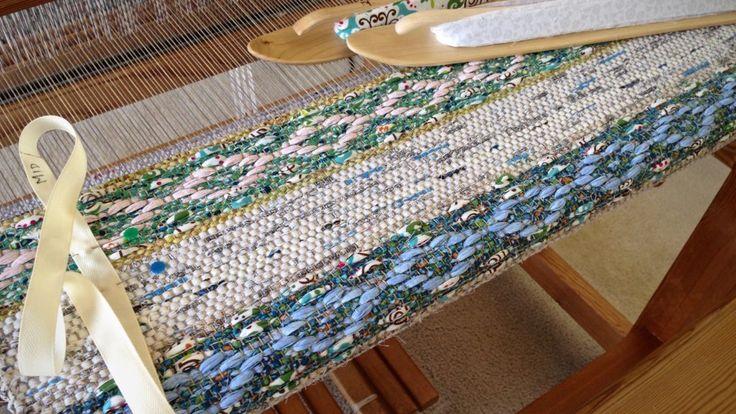 Rosepath rag rug on the Glimakra Ideal loom. Karen Isenhower