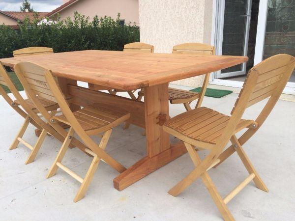 Table ext rieur par fabio38 acacia tables and salons for Table exterieur acacia