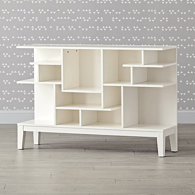Wide White Modern Geometric Bookcase While Most Mazes Leave You Feeling Lost Our