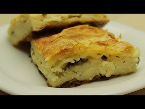 Yufkalı Kolay Yalancı Su Böreği Tarifi - Peynirli Maydanozlu Börek