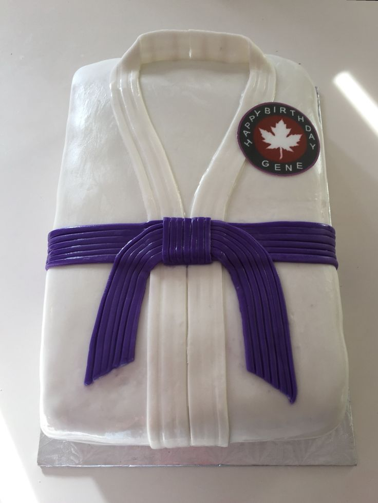 Ju Jitsu Purple Belt Cake