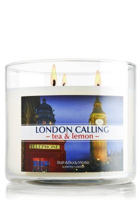 London Calling - Tea & Lemon 14.5 oz. 3-Wick Candle - Slatkin & Co. - Bath & Body Works