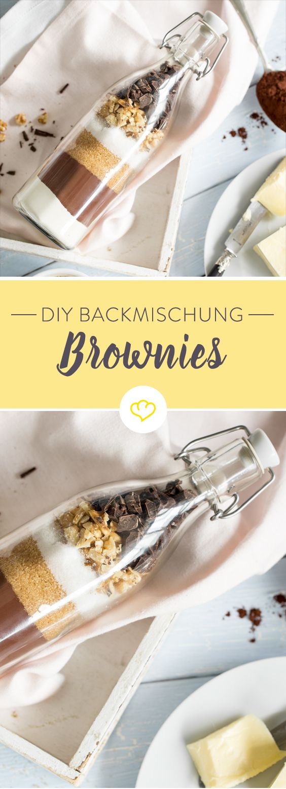 DIY Backmischung im Glas: Supersaftige Brownies – Tanja Kopischke