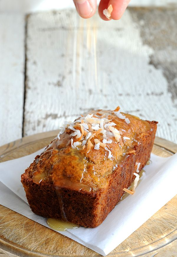 Lemon Coconut Banana Nut Bread with Warm Honey Butter Glaze - A-MAZING ...