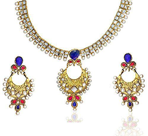 Dazzling Indian Attractive Pink & Blue Stone White Pearls... https://www.amazon.com/dp/B06W9JBVDL/ref=cm_sw_r_pi_dp_x_FLH1ybJ17ZGAZ