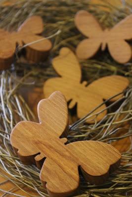 farfalle di legno