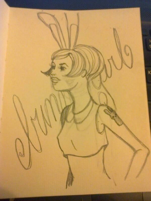 "Sketch ""Bunny girl"" by Moma"