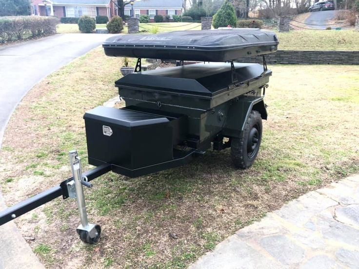 This is Allen's Canadian M101 trailer with No Weld Rack