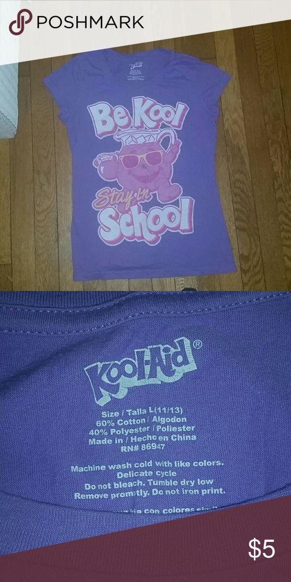 """vintage Kool Aid kid's tee vintage light purple and pink """"Kool Aid"""" child's t-shirt Kool Aid Tops Tees - Short Sleeve"""