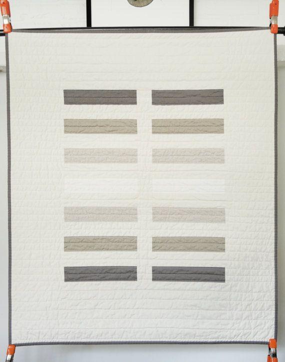 Modern Baby Quilt Earth Tone Bricks by bperrino on Etsy