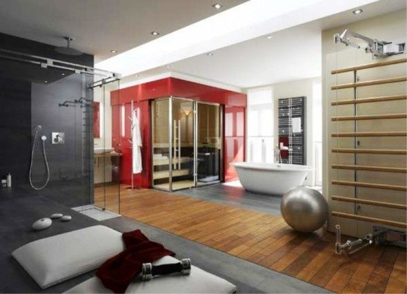 11 Best Home Inspiration Images On Pinterest  Bar Counter Design Fair Gym Bathroom Designs Review