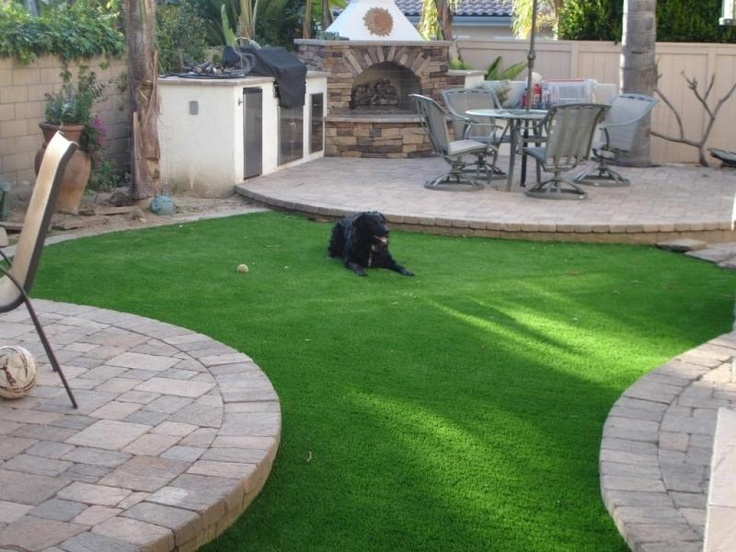 Beautiful EasyTurf Home Installation www.easyturf.com l artificial turf l backyard l landscape l fake grass