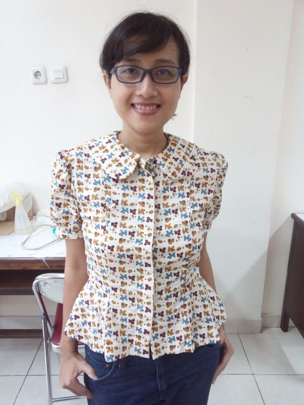 Prep plum blouse