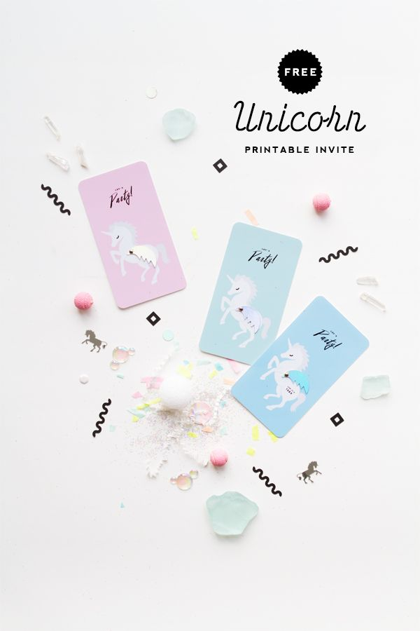 Unicorn Invitation Printable | Oh Happy Day!