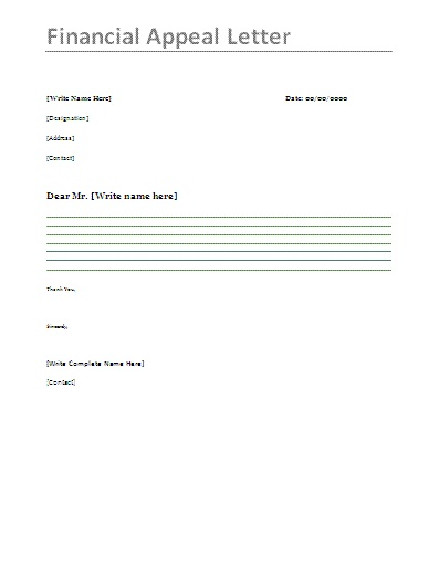 How to write a financial aid appeal letter