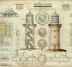 Montague Island Lighthouse drawings – National Archives of Australia