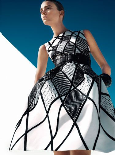 Black and White Spring 2013 Fashion Trend - Black and White Clothing and Accessories - Harpers BAZAAR Pictured: Sigrid Agren,