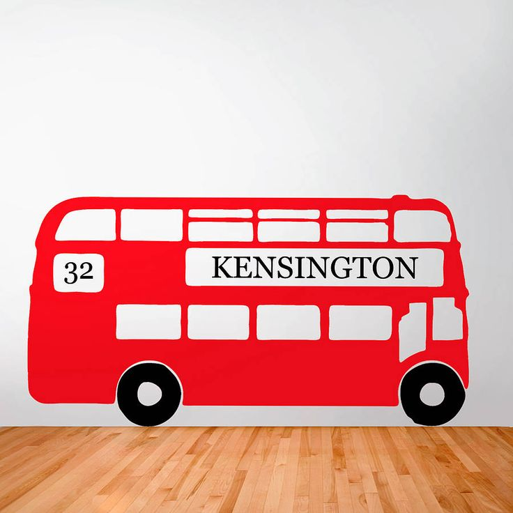 A BIG RED BUS Personalised Retro London Bus Wall Sticker by Oakdene Designs from Not On The High Street. Choose from 9 colours and the route number and destination can be personalised.