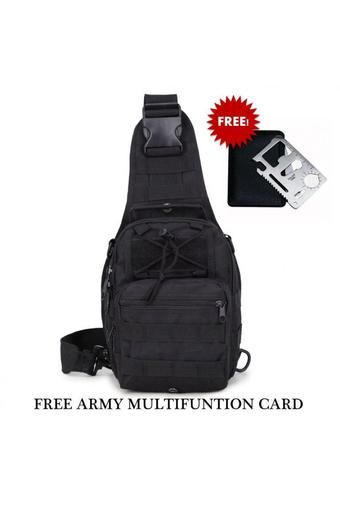 Buy Pilot Army Fans C-001 Outdoor Travel Chest Tactical Bag Attack Waterproof Sports Bag Training Scouts Camping Hiking Mens Best Gift (Black) with Free Army Multi-function Card online at Lazada. Discount prices and promotional sale on all. Free Shipping.
