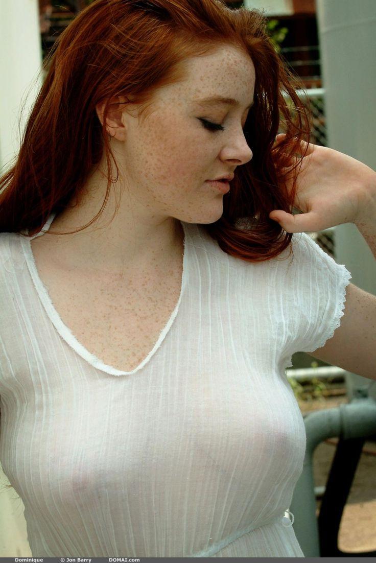 Perfect girl busty redhead