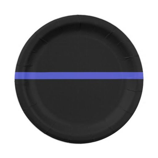 Thin blue line paper plates that are perfect for your retirement party or other get together!!