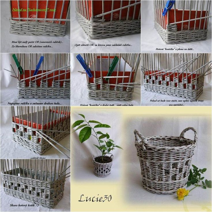How to Weave a Unique DIY Storage Basket from Old Newspaper