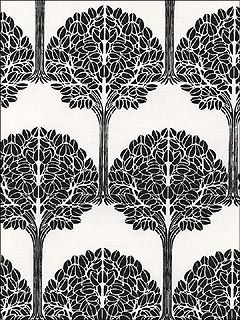 Black Olive Tree on White Wallpaper