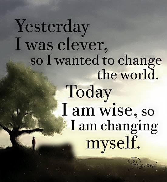Yesterday-I-was-clever #Quotes #Daily #Famous #Inspiration